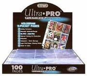 Ultra Pro Platinum 100 9-pocket Pagesnew Free Shipping