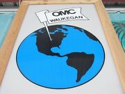 Old Evinrude Johnson Outboard Marine World Headquarters Sign From Closed Factory