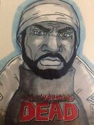 The Walking Dead Comic Book Sketch Card Tyreese 1/1