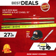 Hilti Sds Max 19 Pointed And Flat Chisel Preowned Sds Max Free Hatfast Ship