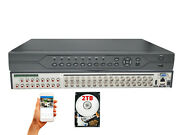 32 Channel H.265 Professional Cctv Security Surveillance Dvr 2tb Hdd Recorder