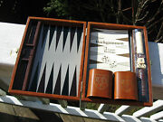 Portable Magnetic Backgammon Gamecomplete And Very Good Condition