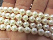 34 Inch 6 To 6.4 Mm High Quality Pearl Necklace 18k Clasp Make Offer