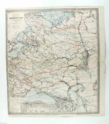 1910s Imperial Russia Climate Map Of European Russia Russian Antique Map