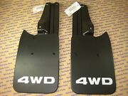 Toyota Tacoma Truck 4x4 And Pre-runner Rear Mud Flaps And Brackets And Bolts New