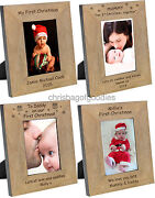 Personalised First 1st Xmas Christmas Photo Frame Gifts For Girls Boys My Baby