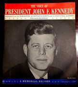 John F. Kennedy - The Voice Of 45 Rpm Vinyl - A Memorial Record Mint/nm