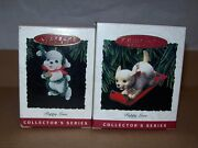Hallmark Keepsake Ornaments Puppy Love Collector's Series Some Used / New In Box