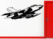 Wall Stickers Vinyl Decal Fighting Jet Airforce Airplane Military Decor Z2333