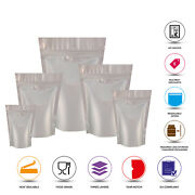 Silver Matt Stand Up Pouch Heat Sealable Stand Up Pouch Coffee Powder And Zip Lock