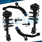 6pc Front Struts W/spring Lower Control Arm And Ball Joint Tierod End For Chrysler