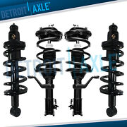 4pc Front And Rear Strut Coil Spring For 2002 2003 2004 2005 2006 Honda Crv