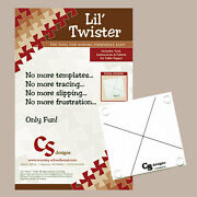 Lil Twister Tool Acrylic Template Instructions + Lil Table Topper Quilt Pattern