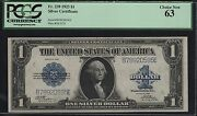 Fr239 1923 1 Silver Certificate Woods / Tate Pcgs Choice Unc Note 63 Wl6573