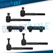 6pc Front Inner And Outer Tie Rods 1988-1999 Chevy Gmc K1500 K2500 K3500 Van