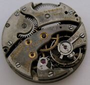 Paul Ditisheim ... Round Incomplete Watch Movement 17 Jewels 2 Adj. For Parts