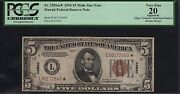Fr2301m 5 1934 Hawaii Star Note Pcgs 20 App Vf+ Rare Only 24 Known Wl6622
