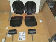 New Front Seat Covers Upholstery Mgb 1973-80 W Complete Headrests Made In Uk