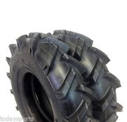 Set Of 2 4x8, 400-8,4.00x8 Deere Gravely Lug Climb Hills Tubeless Tractor Tires