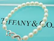 And Co. Sterling Silver And Freshwater Pearls 7 3/4 Infinity Bracelet And Box