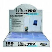 Ultra Pro Silver Series 100/9 Pocket Page Protectors New Free Shipping