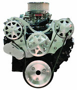 Billet Serpentine Front Drive System - Small Block Chevy-machined-w/a/c And No P/s