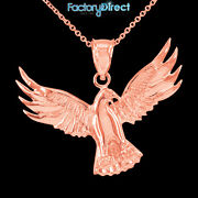 Rose Gold Falcon Pendant Necklace Bird Eagle Flying Duck Animals And Insects