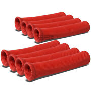 X8 High Heat Shield Red Spark Plug Wire Boot Protector Sleeve Cover/wrap 8-cyl