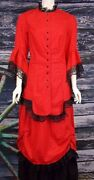 Ladies 1880and039s 2-piece Victorian Outfit Frontier Classics Nwt