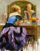 Pino By The Mirror S/n W/coa Embellished Canvas 3200srp-offer