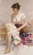 Pino White Lace S/n W/coa Embellished Canvas 3200srp-offer