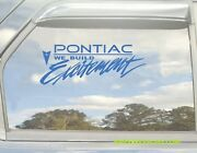 Pontiac We Build Excitement Vinyl Decal Your Color Choice Sticker Trans Am Fiero