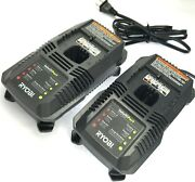 2 Pack Ryobi 18 Volt Dual Chemistry Lithium/nicad Battery Chargers P118