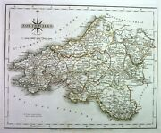 Antique Map, Cary, South Wales .