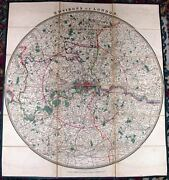 Antique Map, Environs Of London