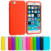L5 Plain Soft Silicone Gel Rubber Skin Case Back Cover For Apple Iphone 6s Plus