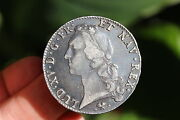 Magnificent French Silver Ecu Coin Louis Xv 1768