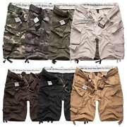 Surplus Division Mens Army Combat Cargo Shorts Work Miltary Style With Belt
