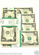 10 New 2003 Series 2 Us Two Dollar Bill Note Uncirculated Sequential