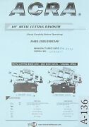 Acra Jih Fong, Jf-15 Jf-18, Milling Machine, Operation Parts And Electric Manual