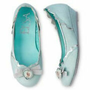 Disney Frozen Elsa Slippers-youth Shoes Girls Size 2/3 Dress Up Or Pretend Play