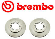Set Of 2 Brembo Front Brake Rotors For Nissan Frontier Rear Wheel Drive