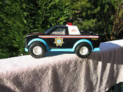 Vintage 1991 Tonka State Police Highway Patrol Truck With Lights And Sounds