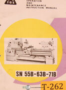 Tos Sn 55b 63b And 71b Lathe Operating Instructions Maintenance And Assembly Manual