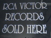 Rca Victor Records Sign Reverse Painted Glass Phonograph Talking Machine Records