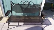 Hand Forged Wrought Iron Bench