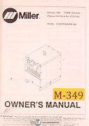 Miller Syncrowave 250 Welding Machine Owners Manual 1993