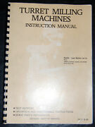 Lagun Ft Series, Ft-1s 2s And 3, Milling Machine Instructions And Parts Manual