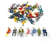 50 Pcs 150 Scale O Gauge All Seated People Sitting Figures Model Train Layout