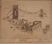 Herbert Ferber Silversny /mass 1906-1991 Signed Etching, 1929 Edition Of 50